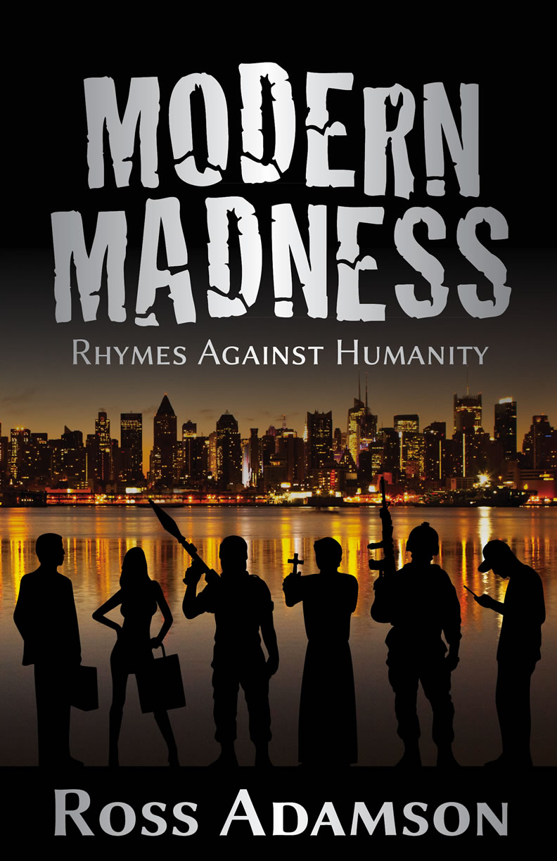 Modern Madness front cover design by Ross Adamson